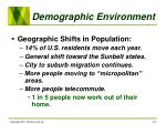 demographic environment21