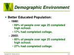 demographic environment22