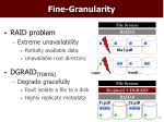 fine granularity