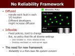no reliability framework