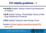 ich stability guidelines 1