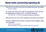 some notes concerning reporting 2