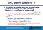 who stability guidelines 1