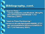 bibliography cont