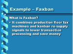 example faxban