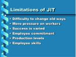 limitations of jit