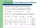 conversion from sequence to phase