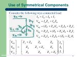 use of symmetrical components