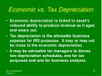 economic vs tax depreciation