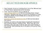 selected biographies