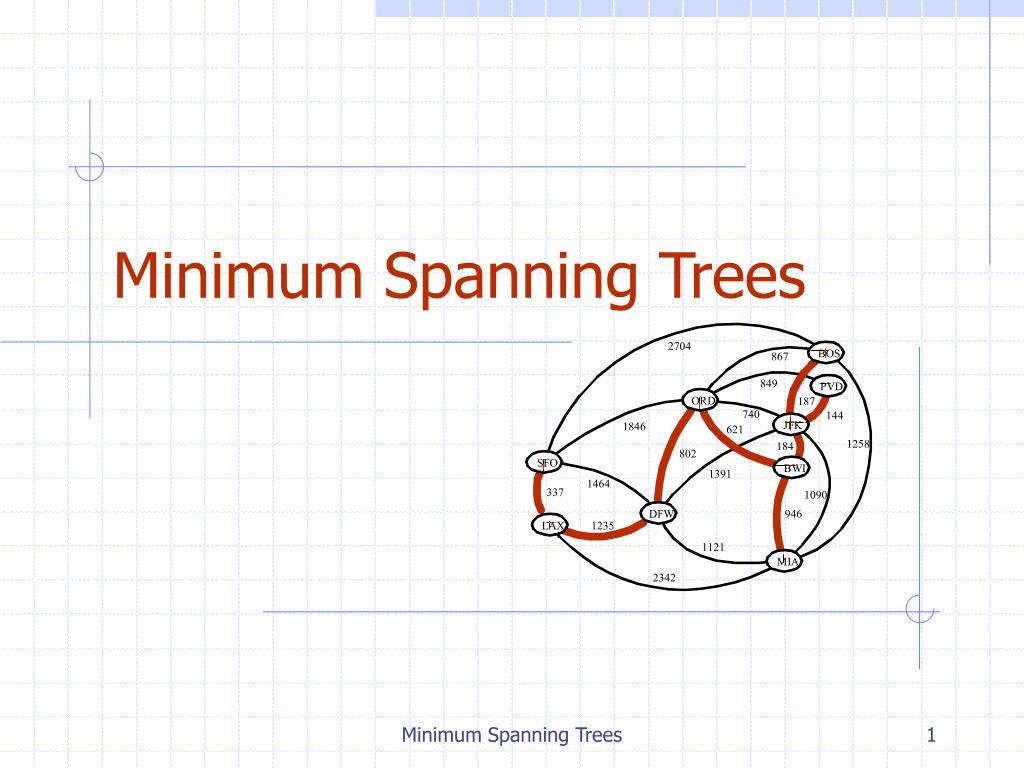 minimum spanning trees l.
