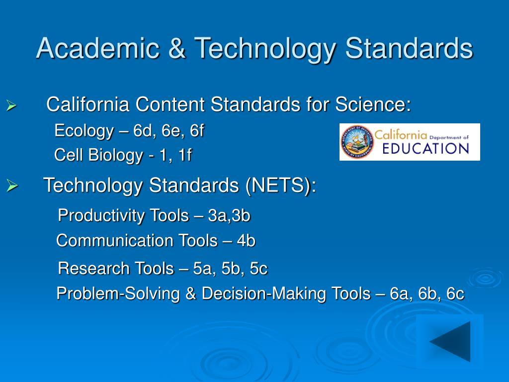 Academic & Technology Standards