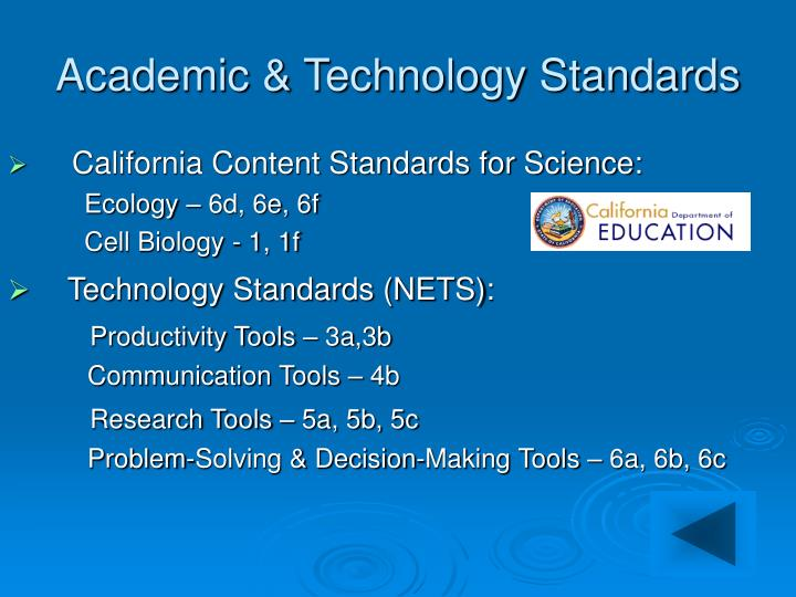 Academic technology standards