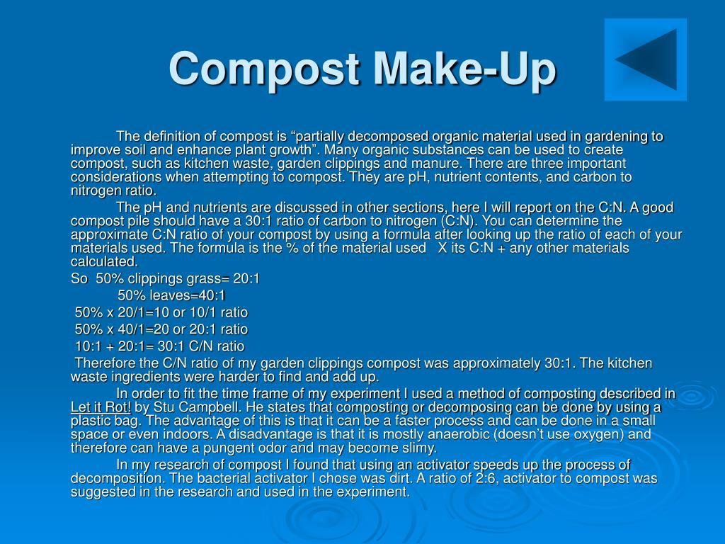 Compost Make-Up