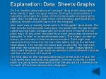 explanation data sheets graphs