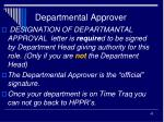 departmental approver