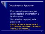 departmental approver43