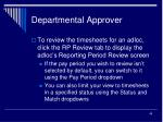 departmental approver45