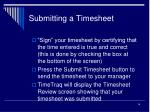 submitting a timesheet