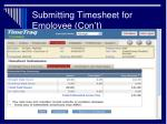 submitting timesheet for employee con t