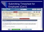 submitting timesheet for employee con t31