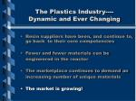 the plastics industry dynamic and ever changing6