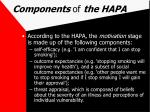 components of the hapa