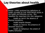 lay theories about health70