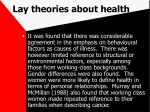 lay theories about health72