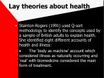 lay theories about health76