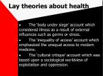 lay theories about health77