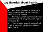 lay theories about health78