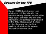 support for the tpb57