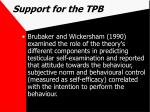 support for the tpb58
