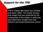 support for the tpb59