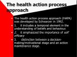 the health action process approach62
