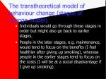 the transtheoretical model of behaviour change stages of change model19