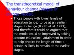 the transtheoretical model of behaviour change stages of change model21