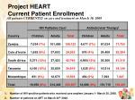 project heart current patient enrollment