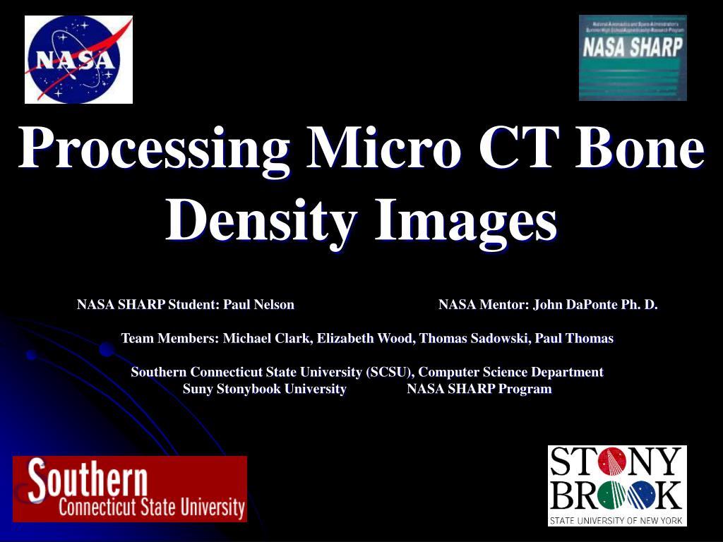 processing micro ct bone density images l.
