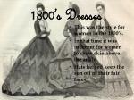 1800 s dresses