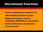 discriminant functions