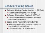 behavior rating scales