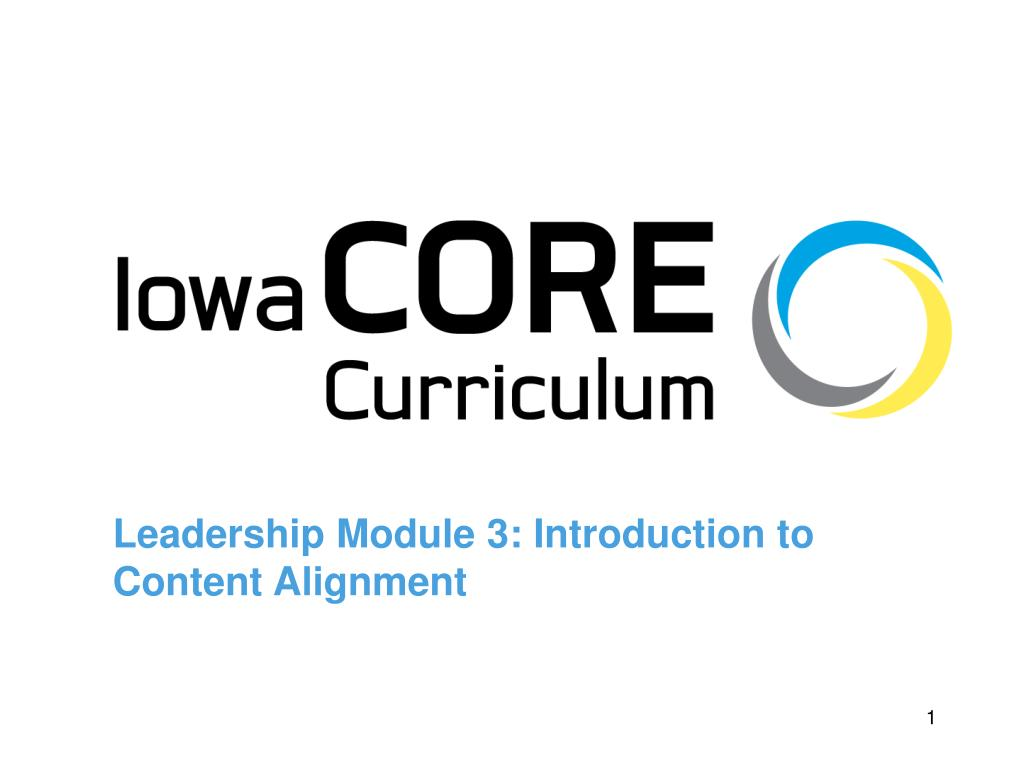 leadership module 3 introduction to content alignment l.