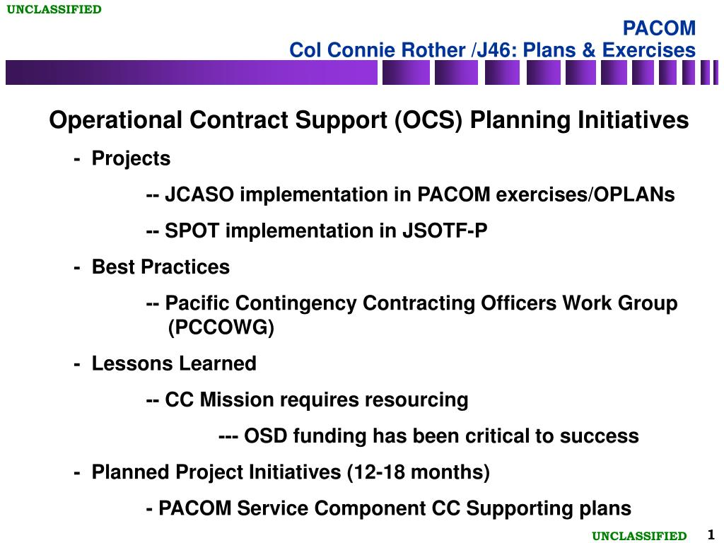 pacom col connie rother j46 plans exercises l.