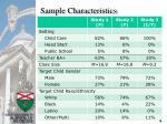 sample characteristics