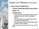 studies 2 3 measures more details14