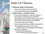 studies 2 3 measures