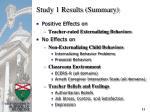 study 1 results summary