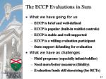 the eccp evaluations in sum